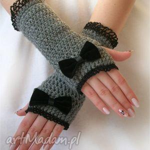 hand-made rękawiczki romantyczne mitenki