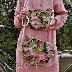 hand-made na ramię zestaw mama córka róże