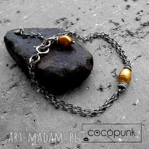 ręcznie zrobione baroque - bransoletka srebro i perły