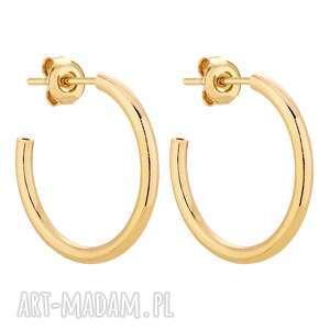 złote półokrągłe kolczyki