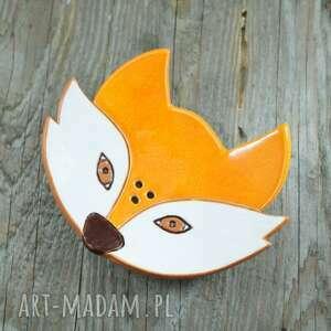 święta, ceramika mydelniczka lis, mydelniczka, łazienka, zwierzęta, las
