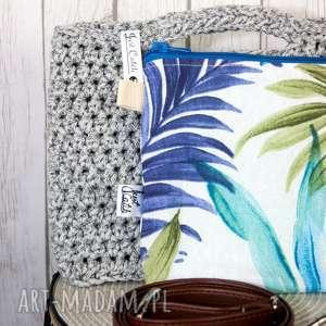 ręcznie wykonane torebki looped szary melanż