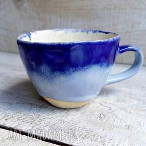 duża filiżanka cobalt blue 250ml, ceramika, ceramiczna, kamionka