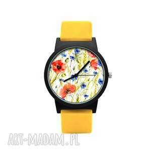ludowelove zegarek z silikonowym paskiem pole kwiatowe, ukwiecony, ludowy