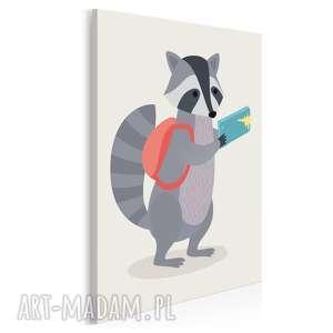 obraz na płótnie - dziecięcy zwierzę szop - 50x70 cm (80206)