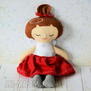 ręcznie zrobione pomysł na świąteczny prezent aniołek świąteczny - dziewczynka - 25 cm