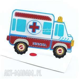 Ambulans - kartka, ambulans, auto, karetka, zdrowie, urodziny