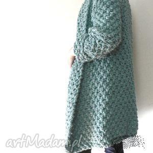 Gruby turkusowy #1 swetry mondu sweter, płaszcz, gruby,