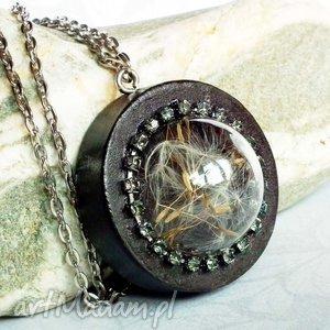 dmuchawcowe terrarium glamour :: naszyjnik z dmuchawcem pod szkłem, dmuchawce