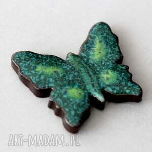 motyl - broszka ceramiczna, skandynawski, minimalizm design kolor wiosna, prezent