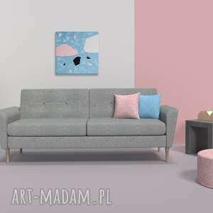 obraz dekoracyjny lastrico, nowoczesny abstrakcyjny, ręcznie malowany