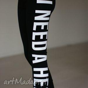 sportowe młodzieżowe legginsy z napisem nadrukiem getry rurki, legginsy, doszkoły