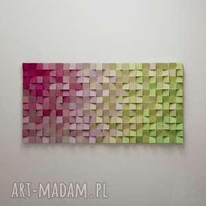 """Mozaika drewniana, obraz drewniany 3d """"pj"""" na zamówienie"""
