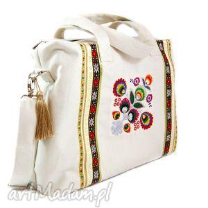 ręcznie robione torebki duża lniana 314