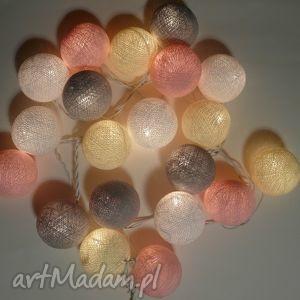 Prezent crème de la cotton balls lampki giralnda, prezent, dziecko, sypialnia