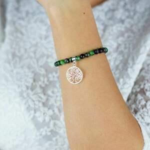 bransoletka zoisyt z rubinem stay positive /zachowaj optymizm/, biżuteria