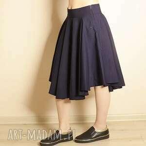 spódnice wełniana spódnica z koła zakładkami talia 73 cm wyprzedaż, welniana