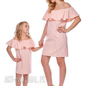 mama i córka sukienka hiszpanka dla córki ld9 3 - falbana, sukienka, mama