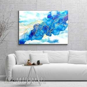 - kod dna marzyciela abstrakcja ręcznie malowana z fakturą 3d, do salonu