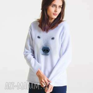 bluzy polarny - bluza damska oversize, bluza, moda, bawełna, casual, projektant