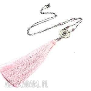 handmade naszyjniki boho maxi /pink/ - naszyjnik
