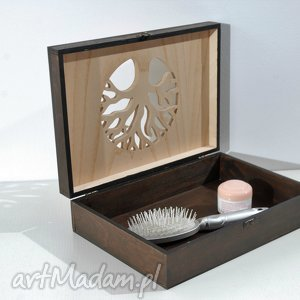 Drzewo - drewniana skrzynka dekoracyjna, wenge pudełka silva