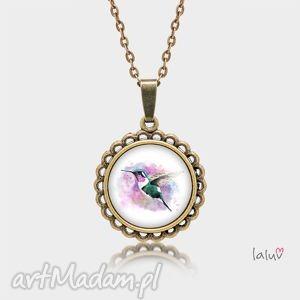 medalion okrągły mały koliber, ptak, nektar, wolność, symbol, tropiki, grafika