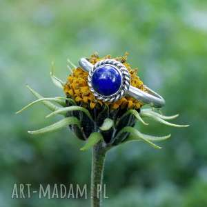 Lapis lazuli w wianku, drobny, vintage, retro, romantyczny, delikatny, lapis-lazuli