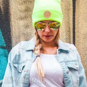 brain inside alternatywny neon sport, jesień, zima, czapka, beanie