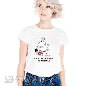 ręczne wykonanie koszulki licencjonowana koszulka damska muminki dla mamy najlepsza mama