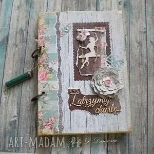 Pamiętnik/Notatnik/ Zatrzymaj chwilę..., notatnik, pamiętnik, kwiaty, butelka