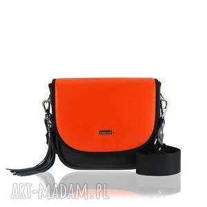 torebka puro saszka 2511 orange leather, torebki puro, classic, na codzień