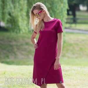 ręcznie zrobione sukienki overlay burgund