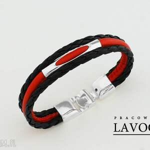 hand made bransoletki bransoletka w czerwieni i czerni.