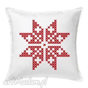 ręcznie zrobione prezent święta poduszka świąteczna gwiazdka