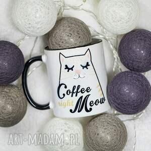 pod choinkę prezent, kubki kubek coffee right meow, kubek, kot, znapisem