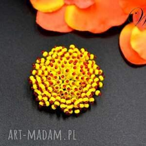 WDart - broszka koralikowa, koralkowa, elegancka wizytowa, modna