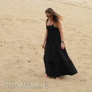 54dł-długa dzianinowa sukienka, lalu, dzianina, bawełna, falbana, zwiewna
