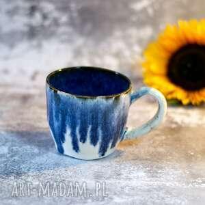 AzulHorse Niebanalny kubek - Biało-niebieski - rękodzieło