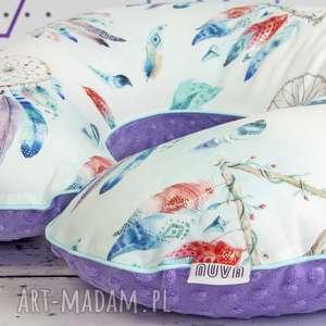 Duża poduszka do karmienia fioletowy łapacz snów dla dziecka