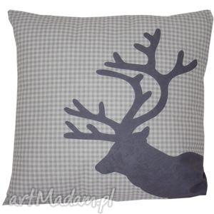 hand-made pomysły na upominki świąteczne poduszka dekoracyjna jeleń