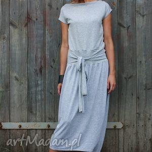 handmade sukienki szara eminencja-kombinezon