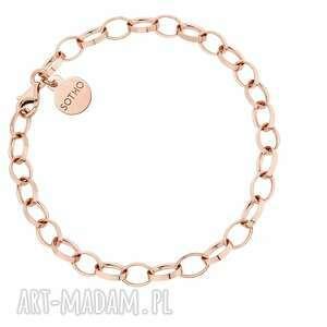 masywna bransoletka z różowego złota - łańcuszek