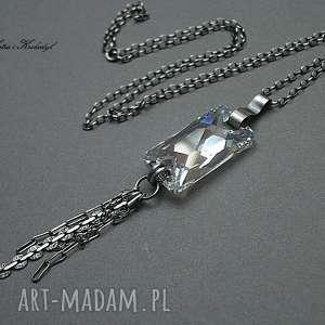 katia i krokodyl księżycowy - naszyjnik, swarovski, srebro, kryształ