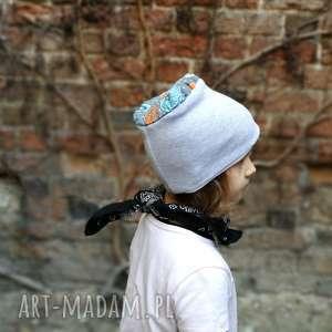 czapka dziecięca dresowa miękka szara, czapka, wiosna, rower, bawełna, dzianina