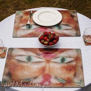 podkładki zestaw 4 dużych podkładek na stół - paul klee kot i ptak, kot
