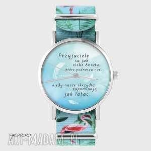 zegarek - przyjaciele flamingi, nato, zegarek, bransoletka, flaming