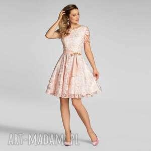 Sukienka monica mini kamelia róż sukienki livia clue koronkowa