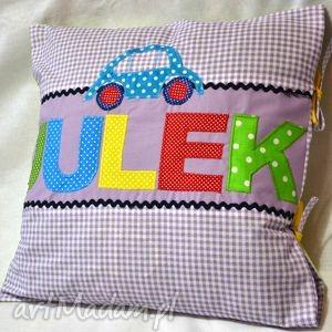 Bawełniana poszewka na poduszkę z imieniem dziecka pokoik