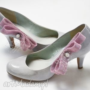 fascynatory broszki do butów, róż, ślub, buty